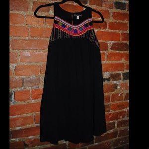 Billabong Beaded Black Shift Dress